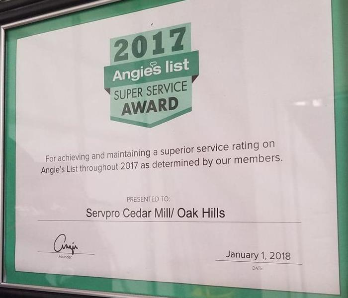 Ranked as Super Service by Angies List!